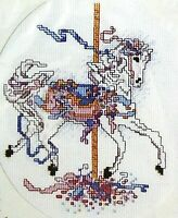 Candamar Designs Counted Cross Stitch Kit Carousel Horse 50707 w Frame NOS NWT