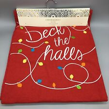 Cynthia Rowley Deck the Halls Table Runner Red Christmas Lights Felted Designer