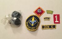 Lot of 6 BSA CUB Boy SCOUTS PATCHES WEBELOS Den Leader WOLF SFF Derby Wheels