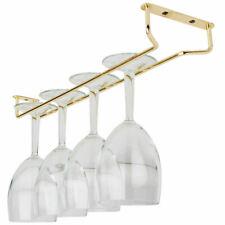 "BarBits Brass Plated Wine Glass Rack - 10"", 16"", 24"" Kitchen Glassware Rail"