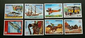 [SJ] Paraguay 200 Years American Post 1976 Train Horse Airplane (stamp) MNH