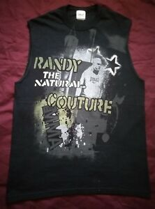 Mens Everlast Randy Couture MMA /Cage fighting black Sleeveless t-shirt Sz L