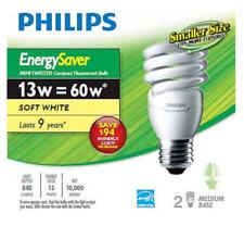 Philips CFL 13W = 60W Mini Twister Soft White (2700K)- (2-Pack)