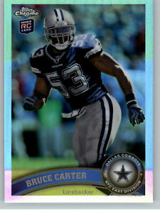 2011 Topps Chrome Refractor #175 Bruce Carter RC - Dallas Cowboys Rookie