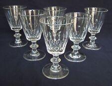 St Saint Louis et Baccarat 6 verres à vin Cristal Modèle Caton 19e siècle 9,5cm