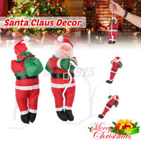 Christmas Santa Claus Climbing Rope Xmas Trees Hanging Ornament for Party Decor