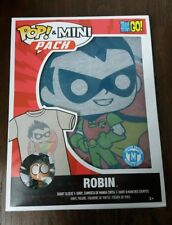 "NEW FUNKO POP TEEN TITANS GO ROBIN T-Shirt and Mini 3"" Vinyl Figure *Exclusive"