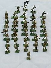 Lot of 44 SAE UNION OF S. AFRICA Miniature WW2 Toy Lead Soldiers in Action
