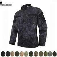 Mens Airsoft Tactical Combat Uniform Shirts US Army Military Jackets Camouflage