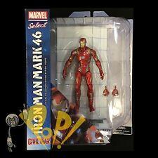 Marvel Select IRON MAN Mark MK 45 46 Captain America CIVIL WAR Diamond Select!