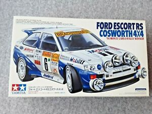 TAMIYA FORD ESCORT RS COSWORTH 4x4  MONTE CARLO RALLY  1/24 MODEL KIT
