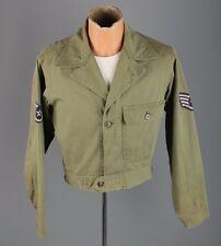 Vtg Men's Korean War 1951 USAF Modified Shortened HBT Jacket sz S #3162 Shirt
