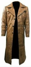 Men,s Real Leather Full Body Trench Coat