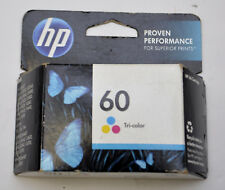 Genuine HP 60 Tri-Color Ink Cartridges (Expiration 2014- 2016) NEW