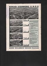 HESSEN-NASSAU, Prospekt 1930, Burger Eisenwerke GmbH Dauerbrand-Öfen