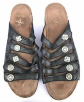 Dansko Janie Black Nappa Leather Women's Slide Sandals Size US 10.5-11 / EU 41