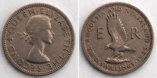 Rhodesien/Rhodesia 2 Shillings 1955 Cu-Ni Schreiseeadler