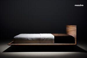Bett SLIM 200x200 modern zeitlos schlicht Schwebebett Design Eiche Erle Holz