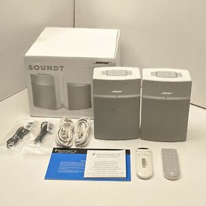 In Box Bose SoundTouch 10 Wireless Music System - White 2Pack (789500-1200)