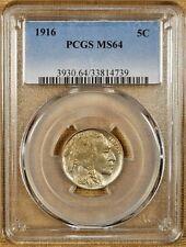 1916 PCGS MS64 Buffalo Nickel