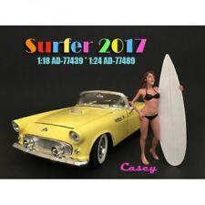 American Diorama 77489 Surfer Casey 1/1000 1:24 Figur mit Surfbrett