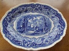 "Antique MASONS VISTA Patent Ironstone China B/W Transfer Ware Charger Plate 13"""