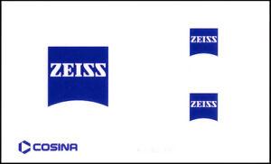 Brand New Zeiss Stickers - 3 Pieces, 2cm x 2cm, 1cm x 1cm