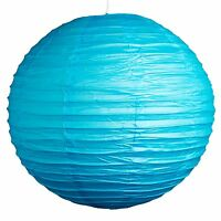 "(Set of 3) Sky Blue Paper Party Wedding Lanterns - 12"", 16"" and 20"" sizes"
