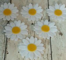 White Daisy flowers die cut felt applique & layering, tutus, brooches,  cards