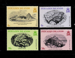 Pitcairn Islands Postage Stamps 1979 Engravings Various Views MNH Set (4v).