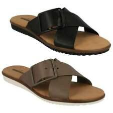 Buckle Flat (0 to 1/2 in) Standard (B) Width Sandals for Women