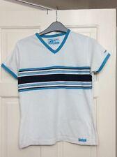 Ladies blue/white striped Reebok t shirt size 10