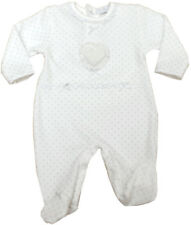 Baby Girl Clothes Spanish Style outfit Baby grow white silver 0-3 m 3-6 m 6-9m