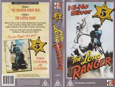 THE LONE RANGER FIVE    VHS PAL VIDEO  A RARE FIND