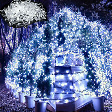 Outdoor Electric String Lights Xmas Garden Wedding Water Proof 32ft 100LED White