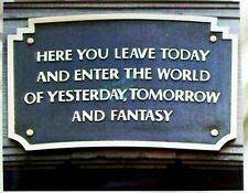 Disneyland Tunnel Plaque image 1955 8x10 Main Street Happiest Place on Earth