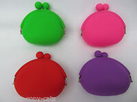 CUTE OVAL SHAPE LADIES GIRLS SILICONE PURSE BAG BRIGHT NEON 4 COLOURS UKSELLER
