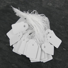 100 White SWING TAGS Plain White Oblong  Jewellery Pricing 25 x 15mm