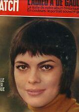 Paris Match N° 1126 Du 05/12/1970 mireille mathieu - de gaulle - pakistan