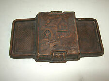 Vtg Playing Cards Case Holder or Pipe Tobacco Holder stand Storage Box Unique