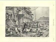 1899 British Battleship Samoa Trading Fruit Vegetables Explosion Bulfinch Solent
