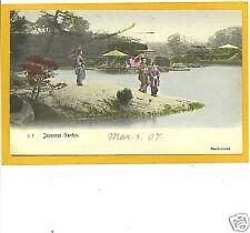 Japanese Postcard - Japanese Garden Rotograph Japan