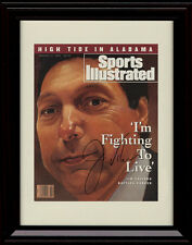 Framed Jim Valvano Sports Illustrated Autograph Replica Print Jimmy V