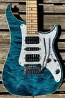 Vigier Excalibur Special HSH Deep Blue Quilt Top Electric Guitar and Gig Bag for sale
