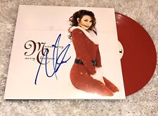 Mariah Carey Merry Christmas Limited Red Vinyl Signed LP Autograph