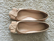 GUESS Cipri beige leather flats with a bow, EU 37, US 6.5