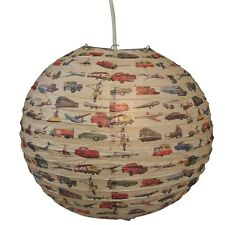 "dotcomgiftshop VINTAGE TRANSPORT DECORATIVE 16"" PAPER LAMPSHADE"