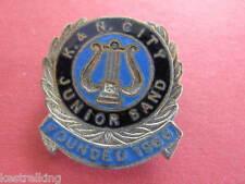 K & N City Junior Band Enamel Badge Schlank Adelaide