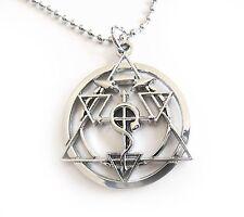 Fullmetal Alchemist Cross Seal Pendant Cosplay Chain Necklace Full Metal Elric