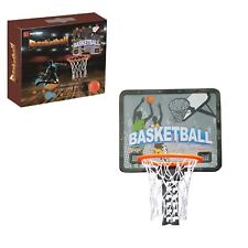Buenotoys Adjustable Metal Hooked Basketball Hoop Set-Over The Door Plastic T.